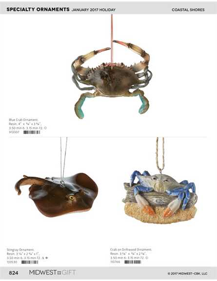 Crab Christmas Ornament
